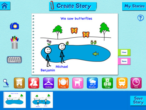 Teach Through Apps: StoryMaker Free