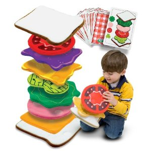 Teach Through Games: Melissa & Doug Sandwich Stacking Games