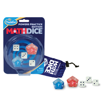 Teach Through Games: Math Dice Powers by ThinkFun