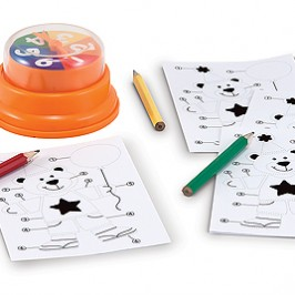 Teach Through Games: Press & Spin Birthday Bear