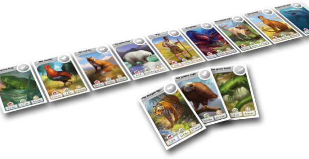 Teach Through Games: CardLine Animals