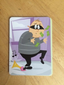 I love the humorous thief cards, and all the different ways the thieves are clumsy.