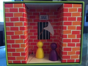 On this round, two players added incorrectly, so their pawns were put in jail for the remainder of this round.