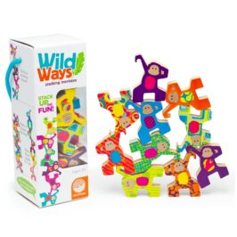 Teach Through Toys: Wild Ways Stacking Wooden Animals
